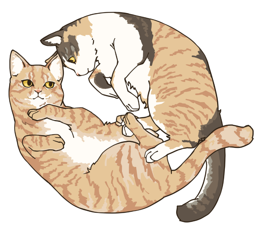 かわいいペットのイラスト制作いたします お写真から大切な愛犬愛猫ペット達をイラスト化いたします!