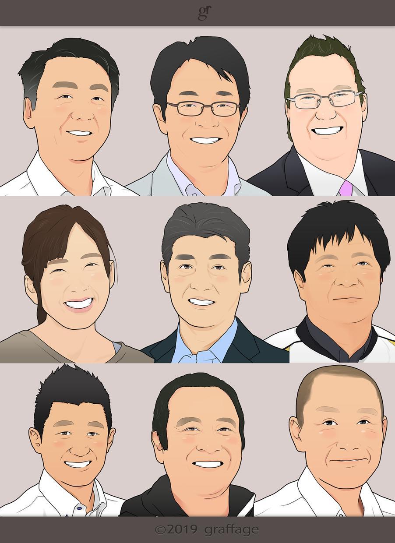 ビジネスに最適!お写真から似顔絵を作成します (名刺・ブログ・HP・ウェルカムボードなど使い方色々!)