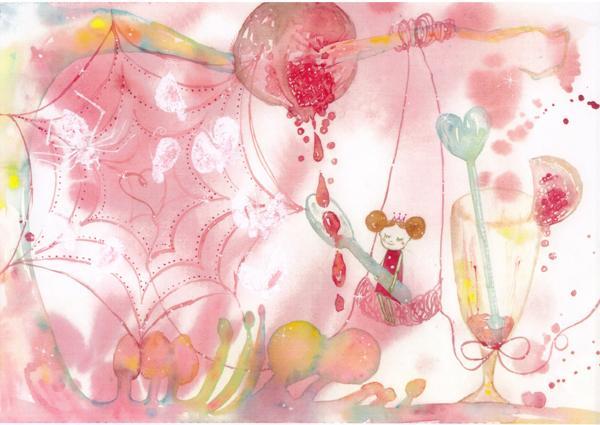 ゆめかわ水彩イラストお描きします 見た人それぞれがストーリーを思い描くような夢あるイラスト