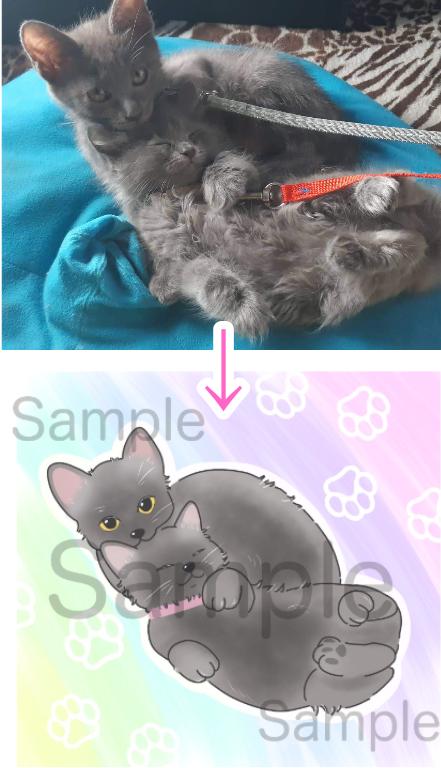 愛犬や愛猫、愛するペットの可愛いイラスト描きます 貴方のペットがグッズやアイコンにもなります! イメージ1