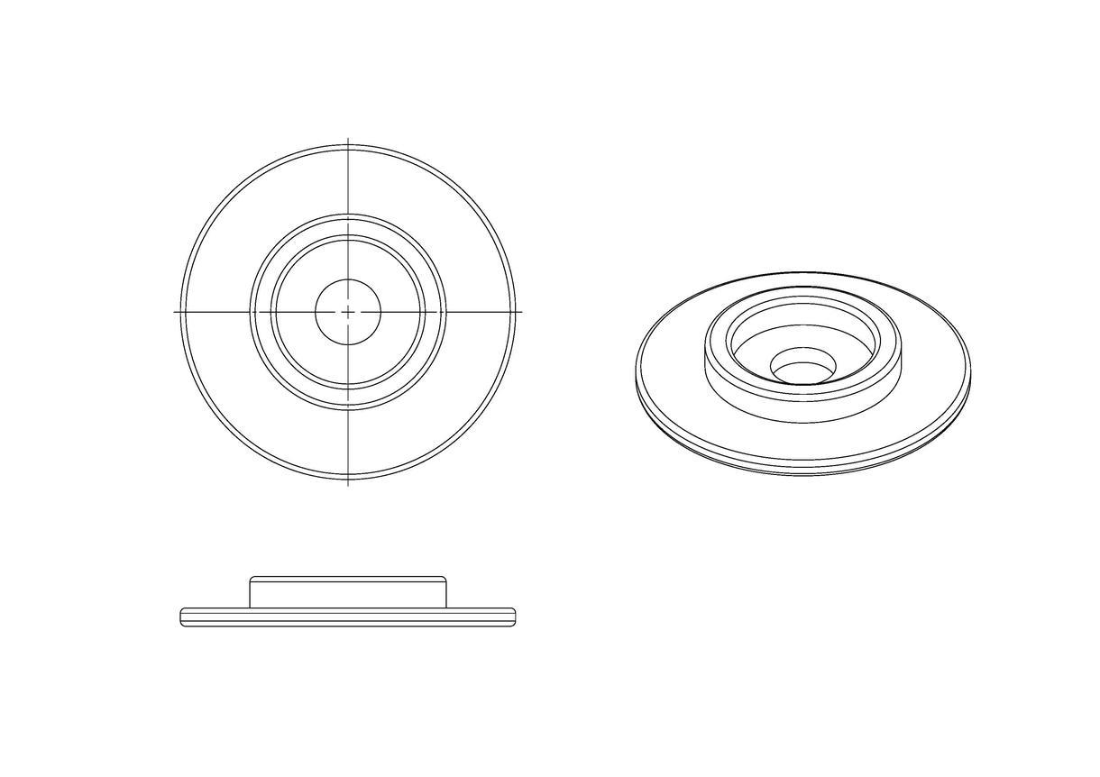 3DCADが無くても立体図を作成します 縦、横、個別に縮尺を設定できるソフトなら立体図作成