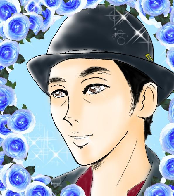 キラキラ☆ゴージャスな似顔絵お描きします 美しいバラがあなたを飾ります... SNS、プレゼント用に♪