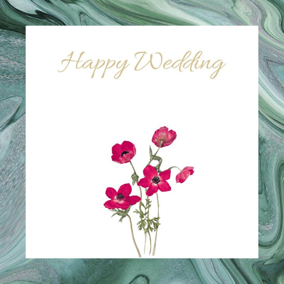 結婚式のフォトの加工します Happy Weddingの画像を作ります! イメージ1