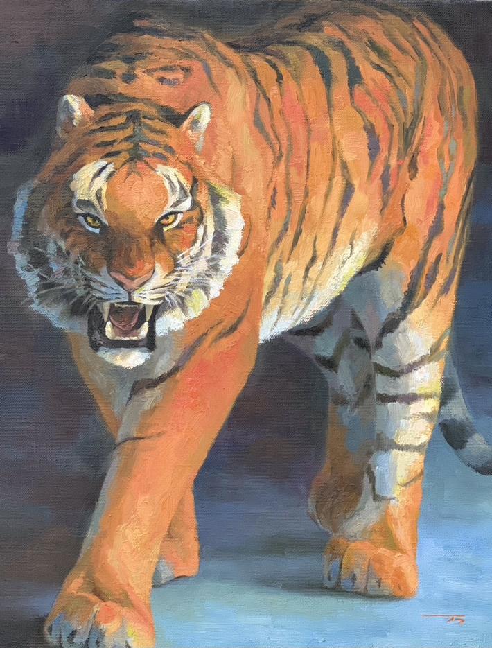 油絵・水彩で動物の絵を描きます 写真とは違う動物の似顔絵を描きます イメージ1