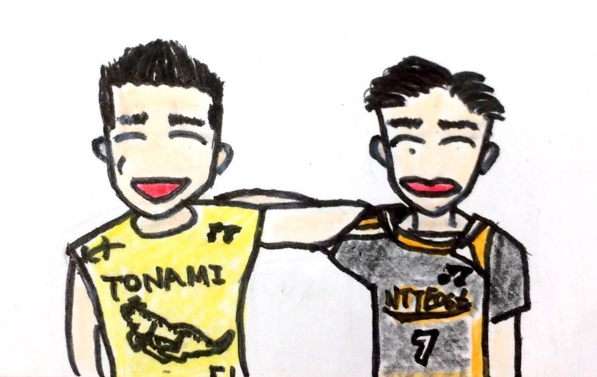スポーツ中・ユニフォーム姿のイラストを描きます スポーツ選手へのプレゼントに、部活の先輩方の引退記念に!!