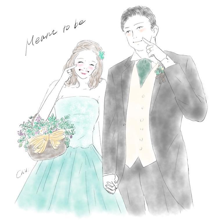 ふんわり優しい似顔絵描きます 大切な記念日をイラストで。アイコンやウェルカムボードに