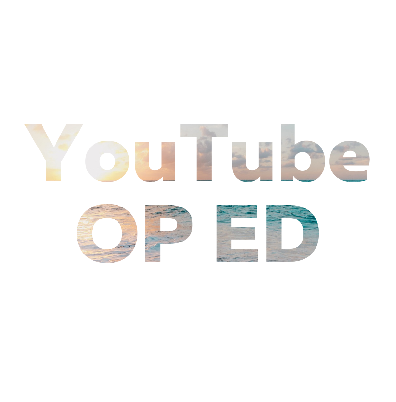 YouTubeで使えるop・edを提供します シンプルで汎用性が高い、おしゃれな映像を提供します!