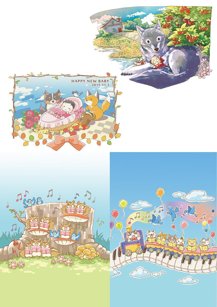 かわいい挿絵、イラストを描きます 特別なプレゼント、SNS・冊子等にいかがですか?