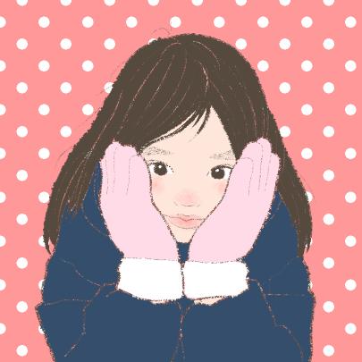 シンプル似顔絵アイコンをお描きします あなたの写真をイラスト化。背景色、ドットが選べます^^