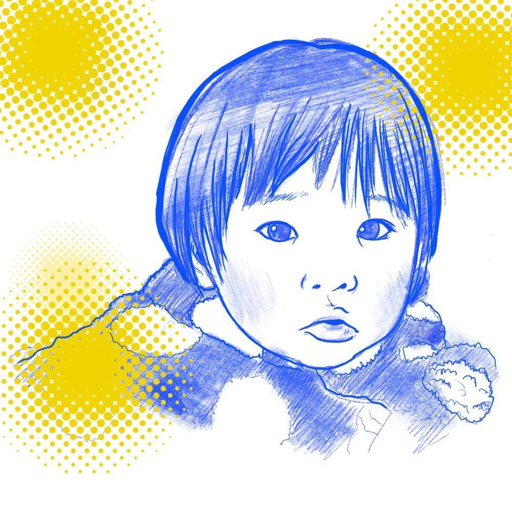 写真一枚からおしゃれなデザインアイコンお描きします お気に入りのお写真をオリジナル手描き画像に!!