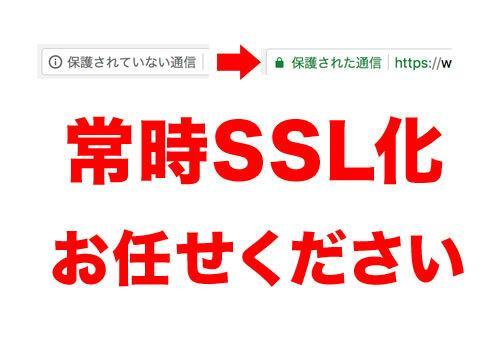 あなたのサイトを常時SSL化対応します 【実績多数】待った無しの常時SSL化。お任せください