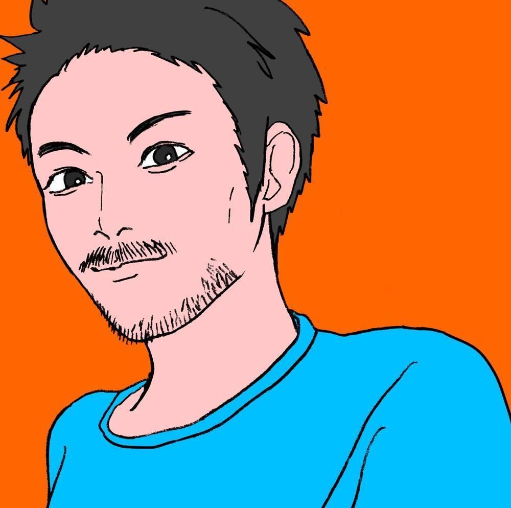 少しリアルで漫画タッチの似顔絵描きます SNSのアイコンやプロフィール画像等!