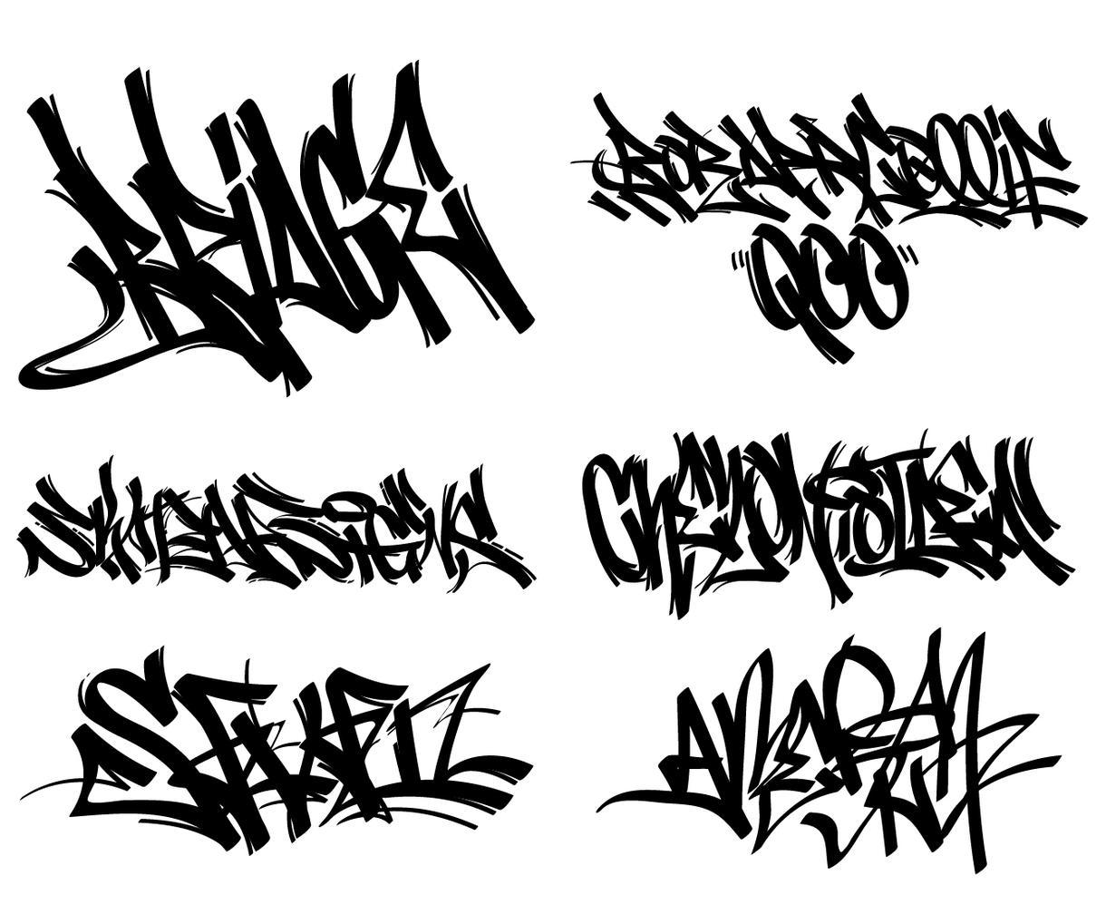 世界に1つあなただけのグラフィティ書きます 好きな単語・言葉、チーム名、ペットのお名前、など制作します。