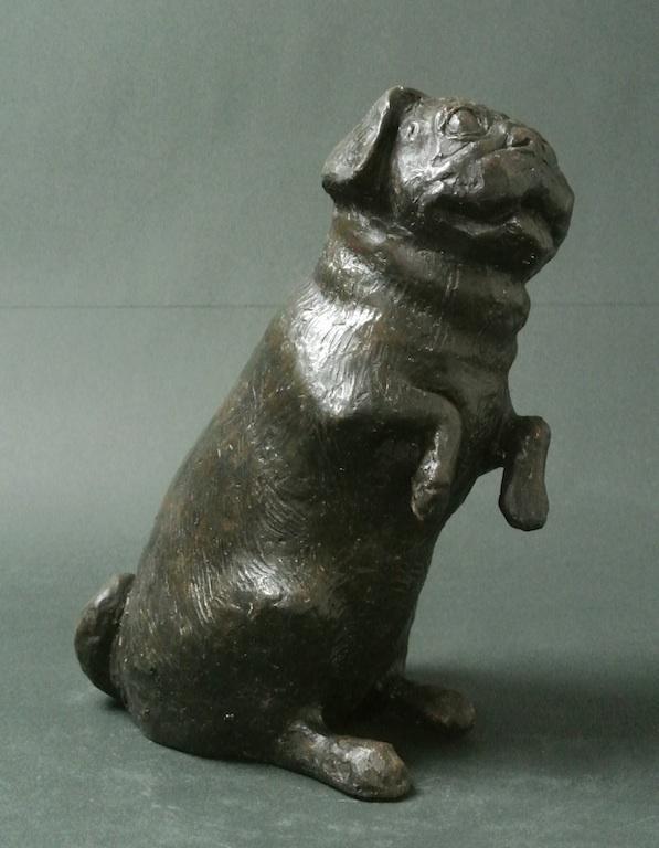 大切なペットの彫刻を制作致します 愛犬などのペットの彫刻を美術品として制作します。