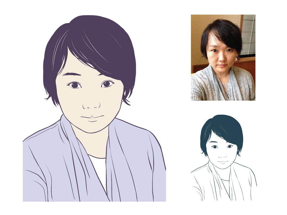 アイコン用シンプル似顔絵を描きます