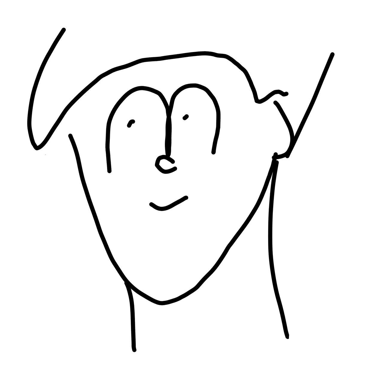 SNSのアイコン用イラストを描きます ゆるさがたまらない、どこか愛しくなる似顔絵 イメージ1