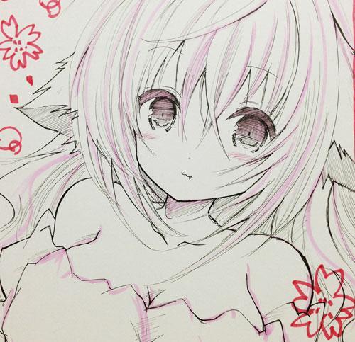 女の子のイラスト描きます。