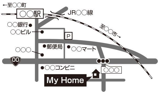 地図を制作します 手書き・Web・紙・住所のみからOK!