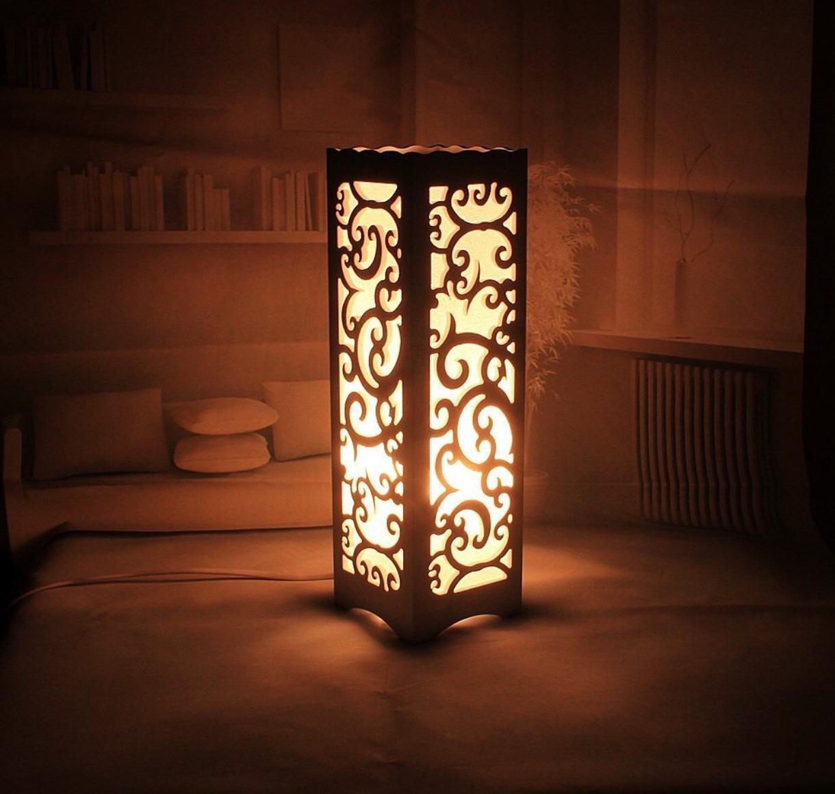 オリジナルの木製ランプお作りいたします 自分だけのオリジナルのランプを作ってみませんか?