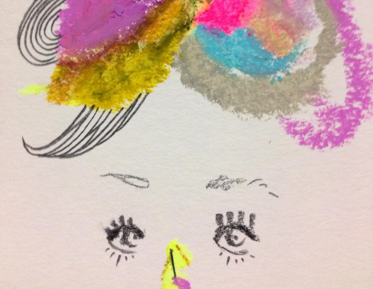 クレヨンと鉛筆で、貴方のイメージをイラストにします。