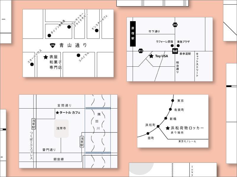 スタイリッシュな地図制作 どのサイズでもできます 広告、名刺、WEBサイト等にご利用される方から大好評です! イメージ1