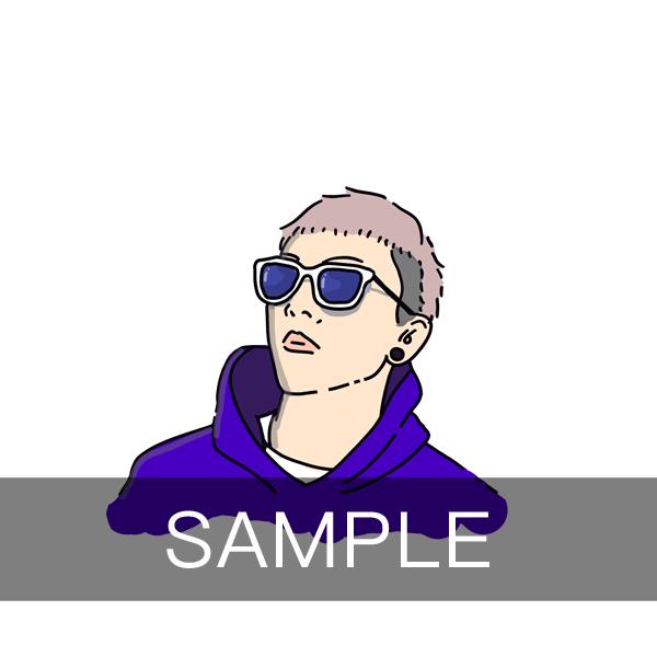 シンプルおしゃれな似顔絵イラスト描きます SNSアイコンにも!シンプルでおしゃれなイラスト描きます