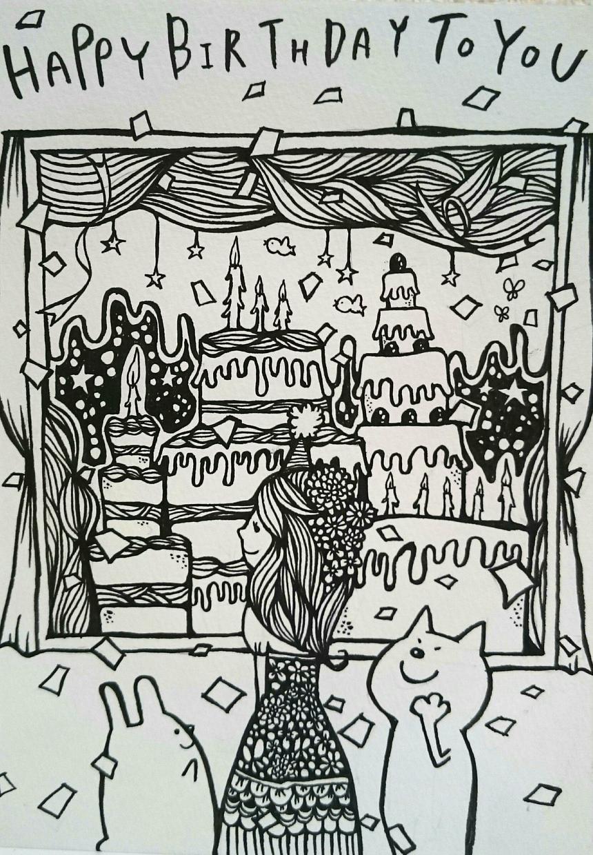 絵本のようなやわらかいイラストを描きます 年賀状イラストや結婚・出産等のプレゼントなどに♪