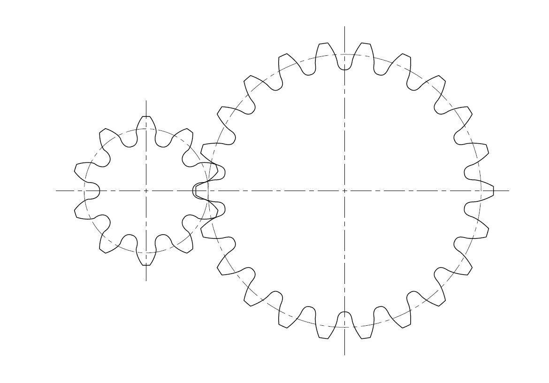 平歯車のインボリュート歯型作成します インボリュート歯型の2D、3D化