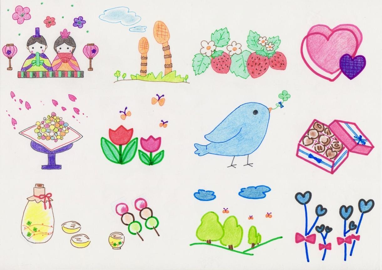 ほっこり可愛いカットイラストを売ります&描きます チラシやHPに♪ スマホの壁紙やSNSアイコンにも
