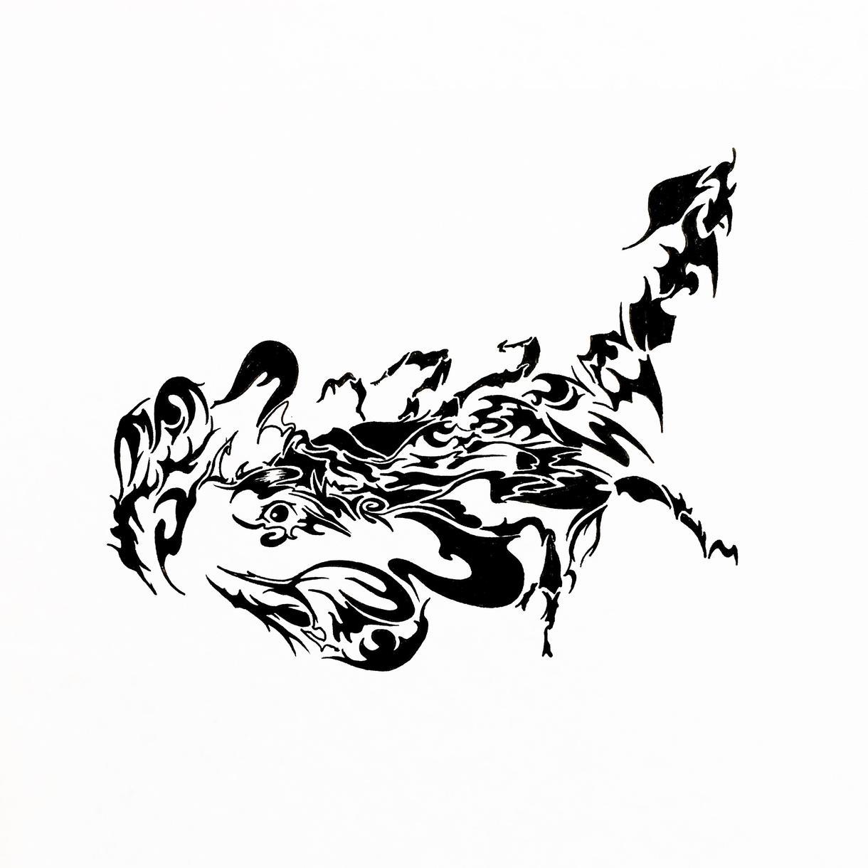 トライバル画のデザインをいたします 名刺や企業のロゴ等、多方面で使用可能です!