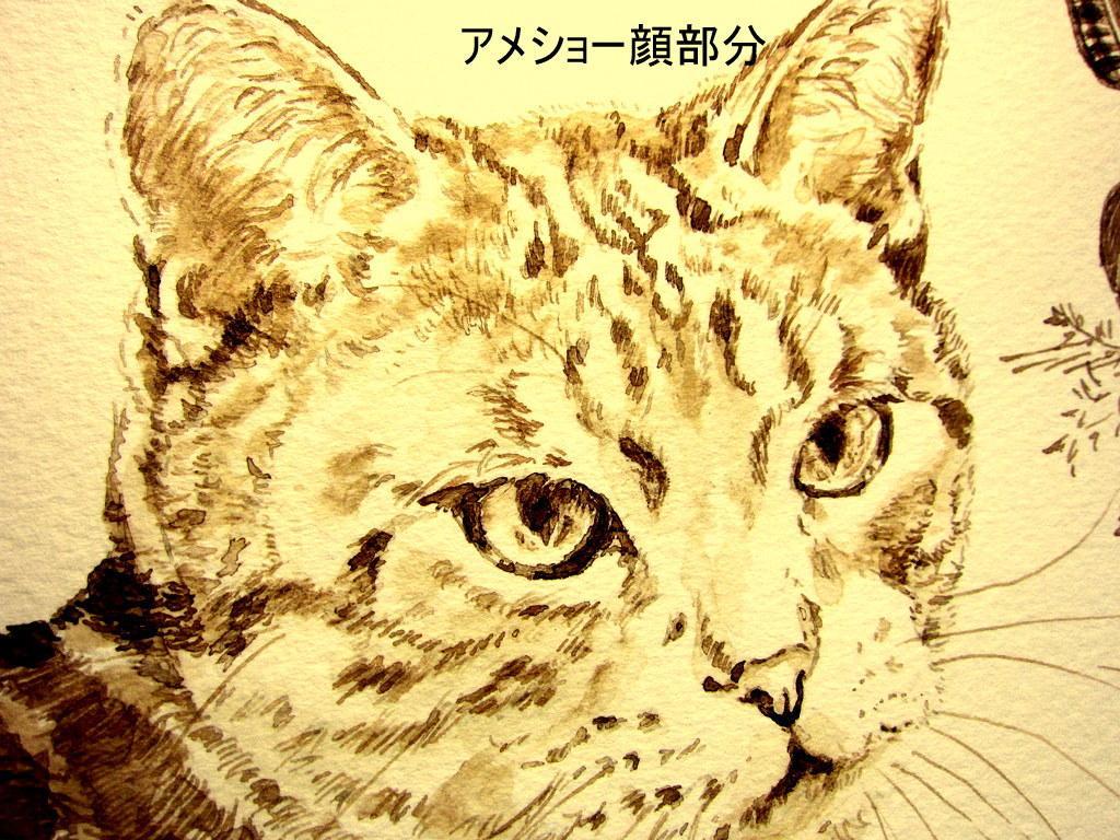 ペットや動物の絵をインクで描きます シンプルなペットの絵を飾りたい方、贈り物にも♪