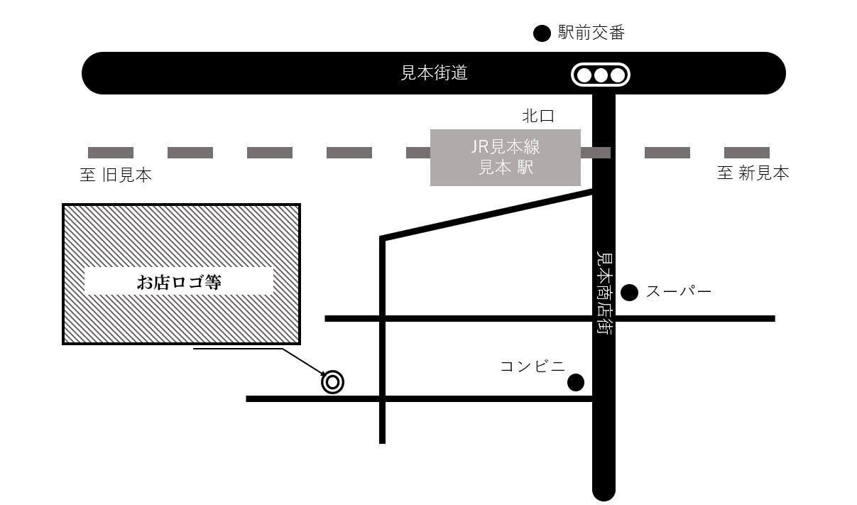 シンプルでモノクロの案内マップを格安で作ります HPやチラシに地図を載せたくて、誰かに作ってほしい時に イメージ1