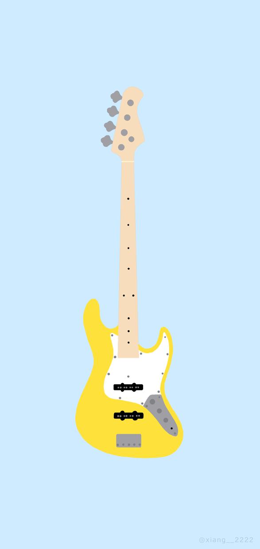 壁紙等に使えるギター、ベースのイラストを描きます 可愛い愛機を壁紙にしてモチベーションを上げていきましょう。 イメージ1