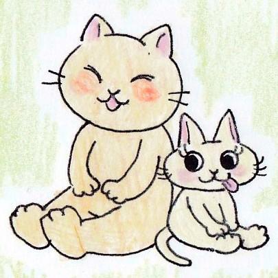 かわいいネコのキャラクターでイラストお描きします(アナログ)