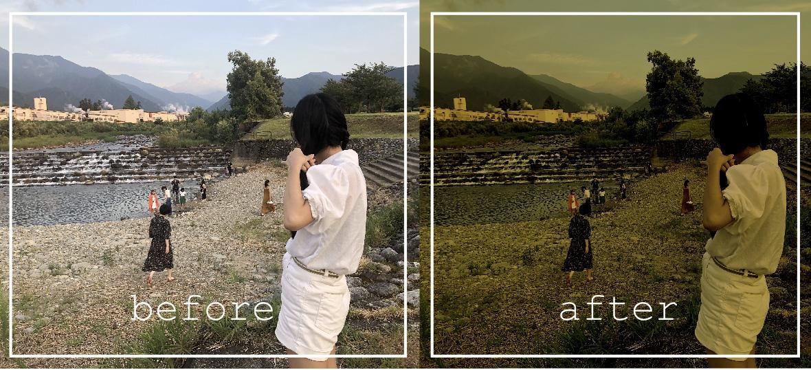SNSにアップする写真に!雰囲気溢れる加工します 他の人とちょっと違う、自分だけの写真が欲しいときに。