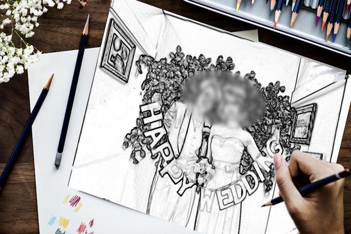 イラストが実写に。オープニングムービー作ります 絵が実写になる演出。オシャレな結婚式オープニングムービー! イメージ1