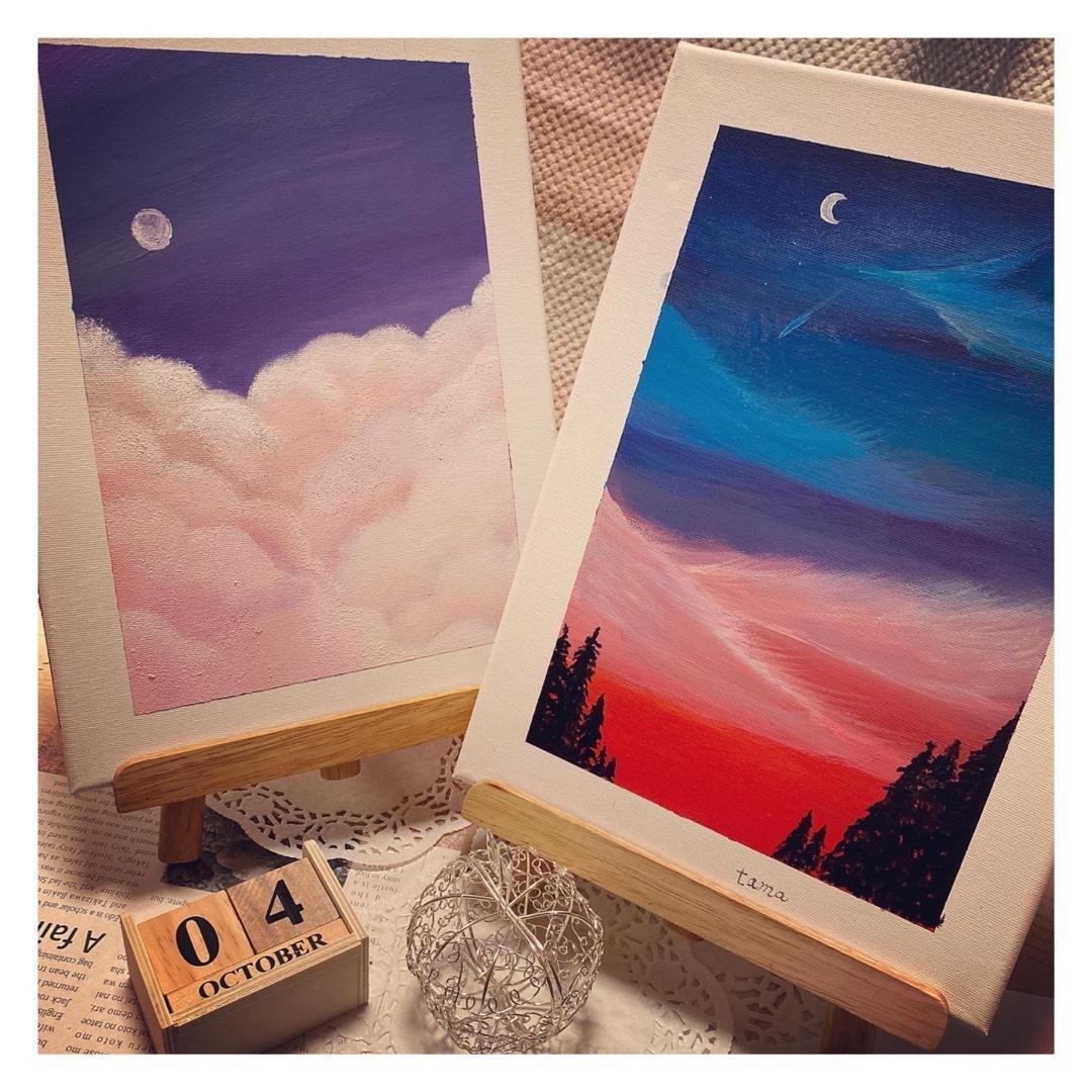 綺麗な空の風景イラストパネル描きます 部屋に飾りたくなる!自分の部屋に鮮やかな風景を イメージ1