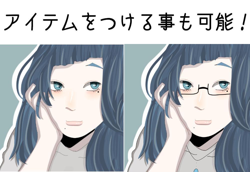 超絶美化した似顔絵アイコン描きます 自分の顔に似てるけど!!美化したイラストが欲しいあなたへ!