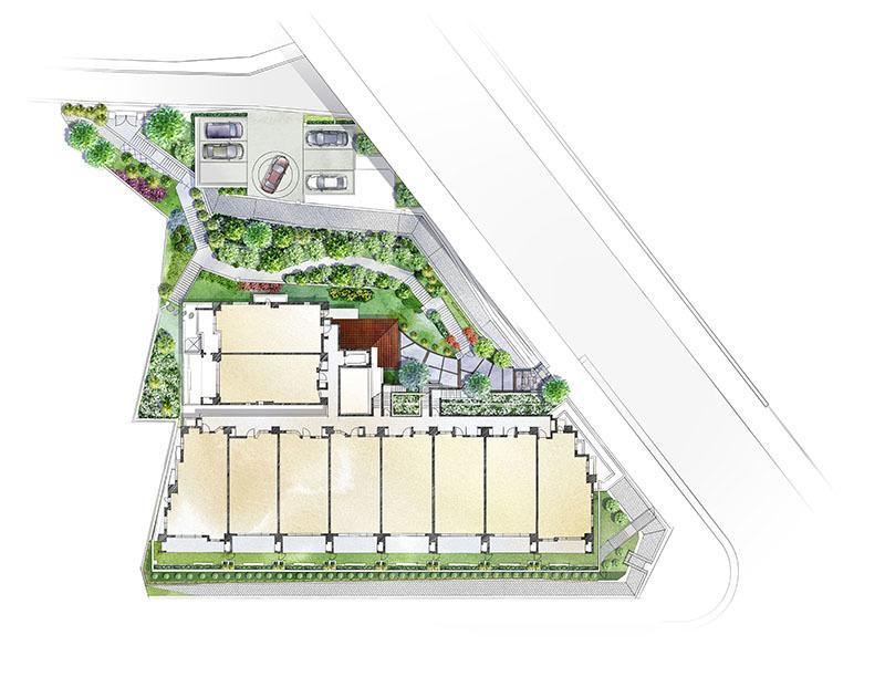敷地配置図(敷配)・区画図イラスト制作いたします おしゃれな不動産広告・賃貸物件などにいかがでしょうか。 イメージ1