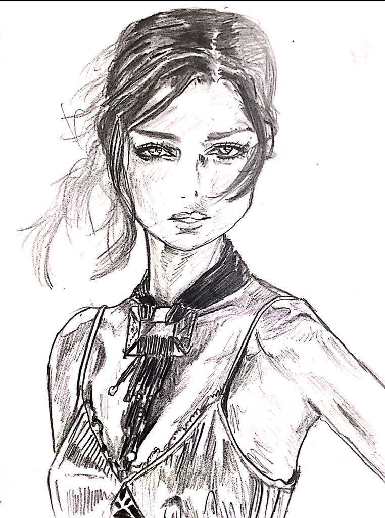 鉛筆のみで描くシックな似顔絵作成します 上品ながらもインパクトのある、大人っぽい似顔絵が欲しい方へ