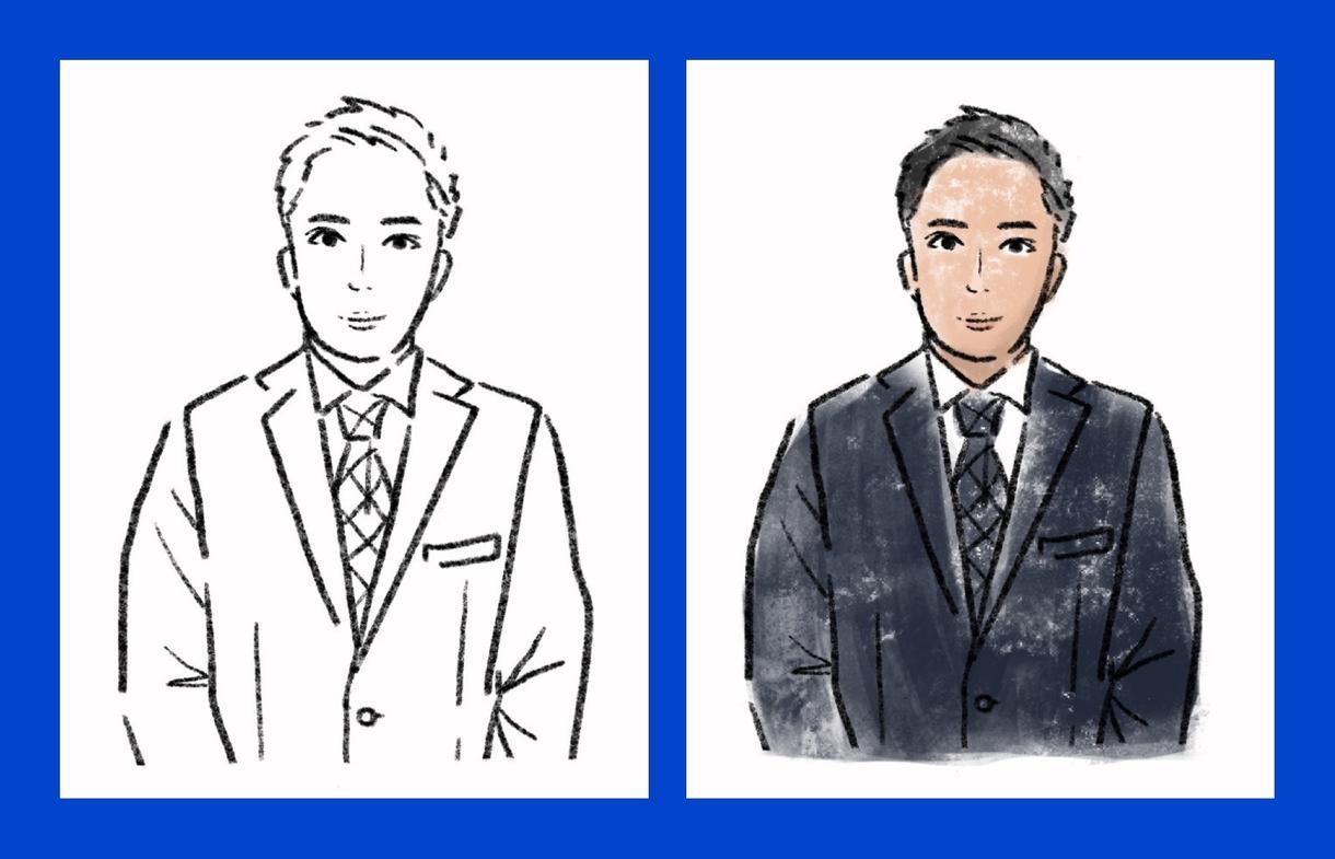 シンプル似顔絵イラスト描きます あなたのお写真を、お洒落なイラストに仕上げます! イメージ1