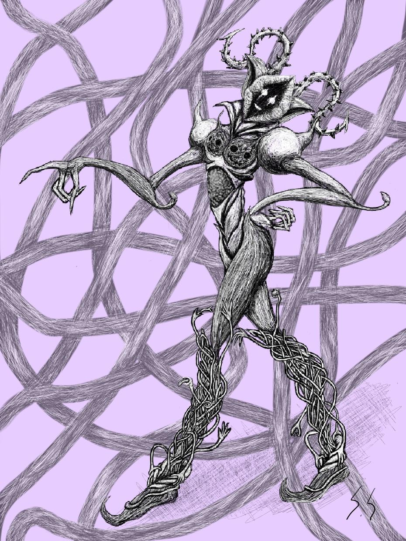 モンスターのイラストを描きます 色々なタッチで、リアル系、コミカル系、おぞまし系、触手系!