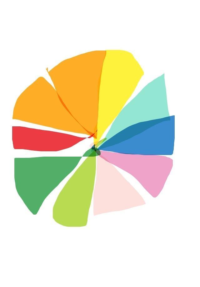 デザイン、イラスト等のデータになります 色相環を表してみました。カラフルで鮮明。