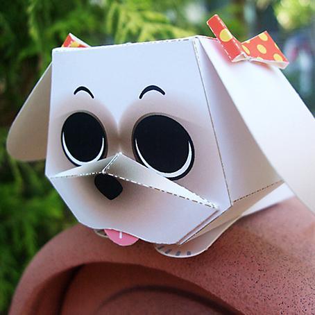 ワンちゃんのペーパークラフトが楽しめます お家のプリンターで印刷して組み立てる可愛いマスコット