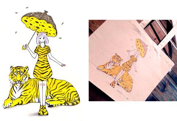商用実績アリ!シンプルでおしゃれなイラスト描きます ポップで透明感のある女性のイラストならおまかせ!