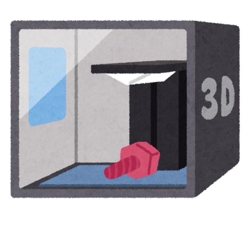 3Dプリンター用のデータを作成します 様々な形の3Dプリンター用のデータを作成します!