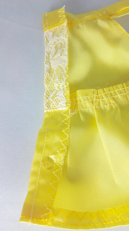 手作り ぬいぐるみ服(黄レース)販売します うさぎのぬいぐるみ サンアロー ラッキーM