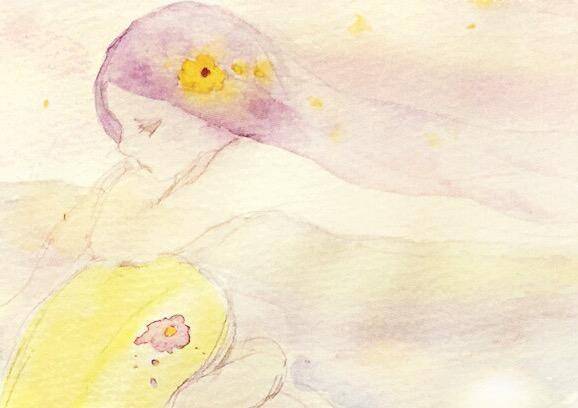 ふんわり水彩であなたのイメージを引き出して描きます 直感でイメージを絵にします。タロットミニメッセージつき!
