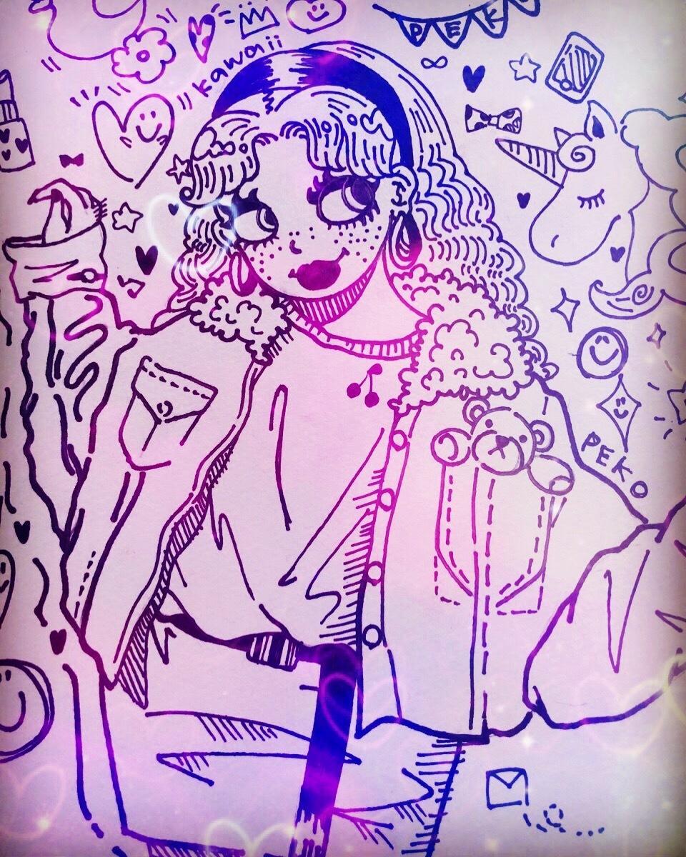 似顔絵描きます 可愛いかんじになるかとっ!マッキーと色鉛筆で!描きます!