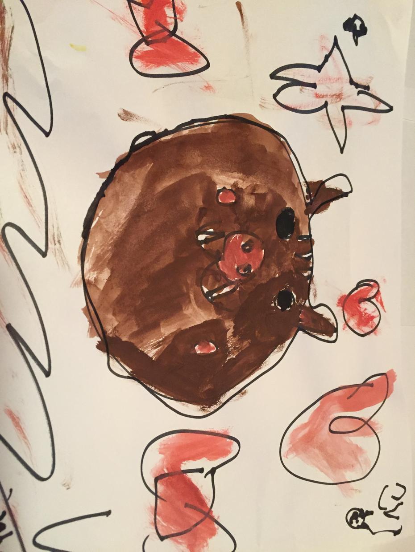 子供が書いた、☆夢カワイラスト☆、提供します お絵かき好きな5歳。 カワイイをテーマに楽しんで書いています